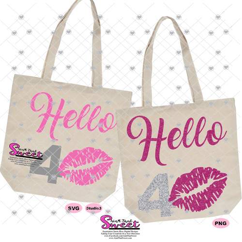 Hello 40 with Lips - Transparent PNG, SVG