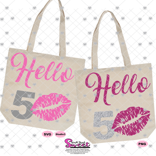 Hello 50 with Lips - Transparent PNG, SVG
