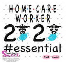 Home Care Worker 2020 With Caduceus and Mask - Transparent PNG, SVG  - Silhouette, Cricut, Scan N Cut