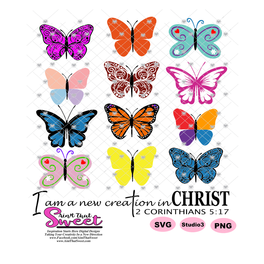 I Am A New Creation In Christ - 2 Cor 5:17 - Transparent PNG, SVG  - Silhouette, Cricut, Scan N Cut