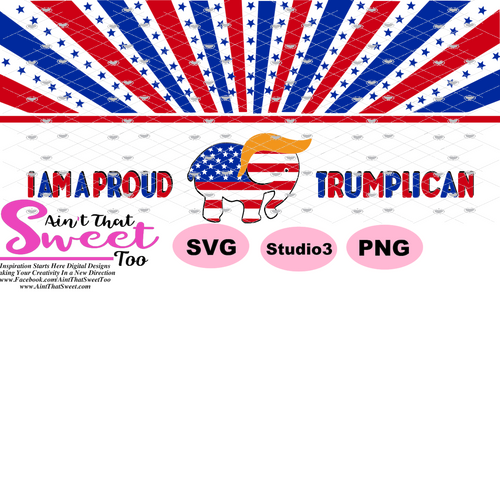 Trump - I Am A Proud Trumplican Mug Label - Transparent PNG, SVG