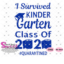I Survived Kindergarten Graduation Class of 2020 - Transparent PNG, SVG