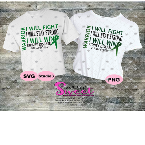Kidney Disease: I Will Fight Stay Strong Win Warrior - Transparent PNG, SVG