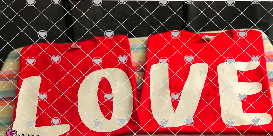 LOVE for two shirt designs  - Transparent PNG, SVG