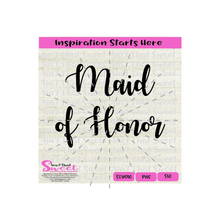 Maid Of Honor | Best Man - Transparent PNG, SVG  - Silhouette, Cricut, Scan N Cut