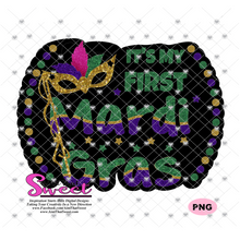 My First Mardi Gras With Mask - Transparent PNG, SVG