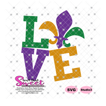 Mardi Gras Love - Transparent PNG, SVG - Silhouette, Cricut, Scan N Cut