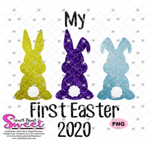 My First Easter with Bunnies - Transparent PNG, SVG - Silhouette, Cricut, Scan N Cut