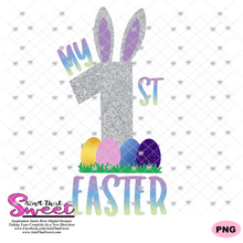 My First Easter With Eggs - Transparent PNG, SVG - Silhouette, Cricut, Scan N Cut