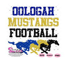 Oolagah Mustangs Football - Transparent PNG, SVG  - Silhouette, Cricut, Scan N Cut