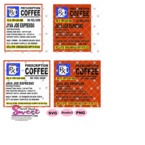 Prescription Bottle Instructions Coffee 20 oz. Mug Image - Transparent PNG, SVG, Studio3 - Silhouette, Cricut, Scan N Cut