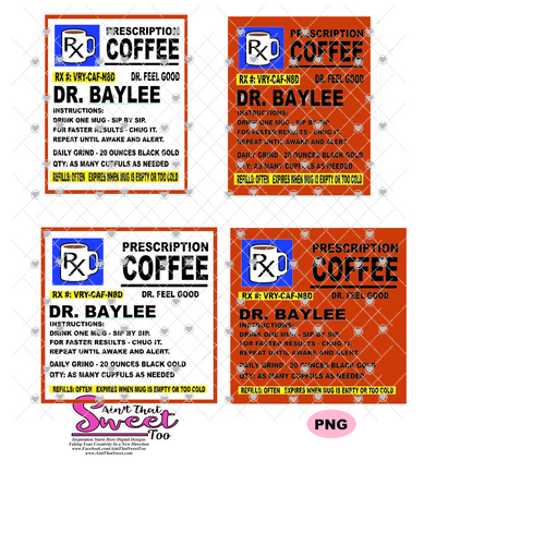 Prescription Bottle 20 oz. Dr. Baylee - Transparent PNG ONLY