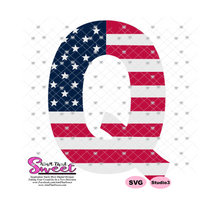Q Stars Stripes - Transparent PNG, SVG  - Silhouette, Cricut, Scan N Cut
