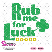 Rub Me For Luck - Transparent PNG, SVG - Silhouette, Cricut, Scan N Cut