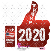Trump 2020 Keep America Great Thumbs Up - Transparent PNG, SVG