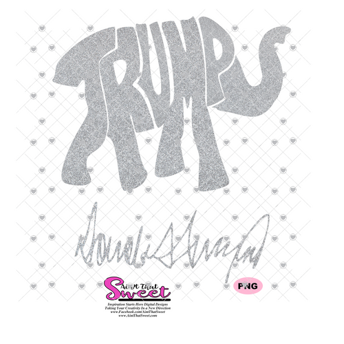 Trump in the Shape of an Elephant - Donald J. Trump Signature - Transparent PNG, SVG
