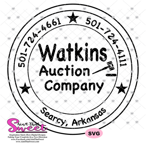 *Custom Design - Watkins Auction Company - SVG