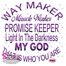 Way Maker Miracle Worker Promise Keeper - Transparent PNG, SVG