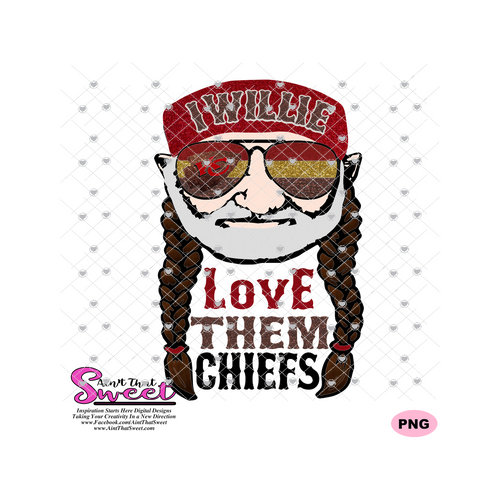 I Willie Love Them KC Chiefs - Transparent PNG, SVG - Silhouette, Cricut, Scan N Cut