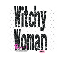 Witchy Woman - Transparent PNG, SVG  - Silhouette, Cricut, Scan N Cut