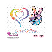 Love Peace Heart Hand - Transparent SVG-PDF-PNG  - Silhouette, Cricut, Scan N Cut