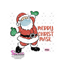 Merry Christ Mask Masked Santa - Transparent PNG, SVG  - Silhouette, Cricut, Scan N Cut