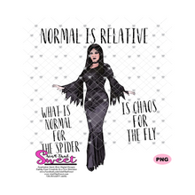 Normal Is Relative - What is Normal For The Spider Is Chaos For The Fly - Transparent PNG, SVG  - Silhouette, Cricut, Scan N Cut