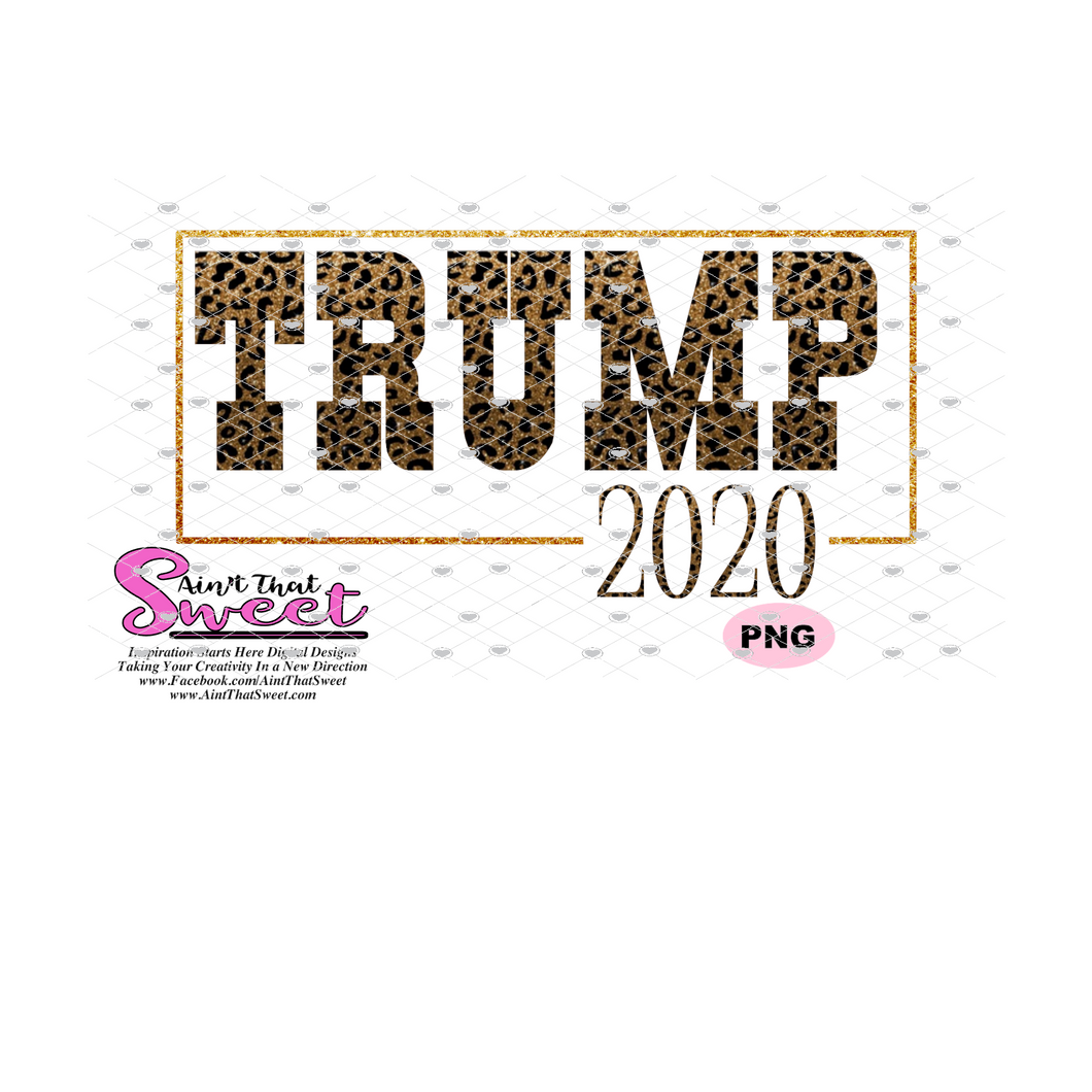 Trump 2020 - Transparent SVG-PNG  - Silhouette, Cricut, Scan N Cut