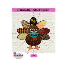 Turkey with Mask - Transparent PNG, SVG  - Silhouette, Cricut, Scan N Cut