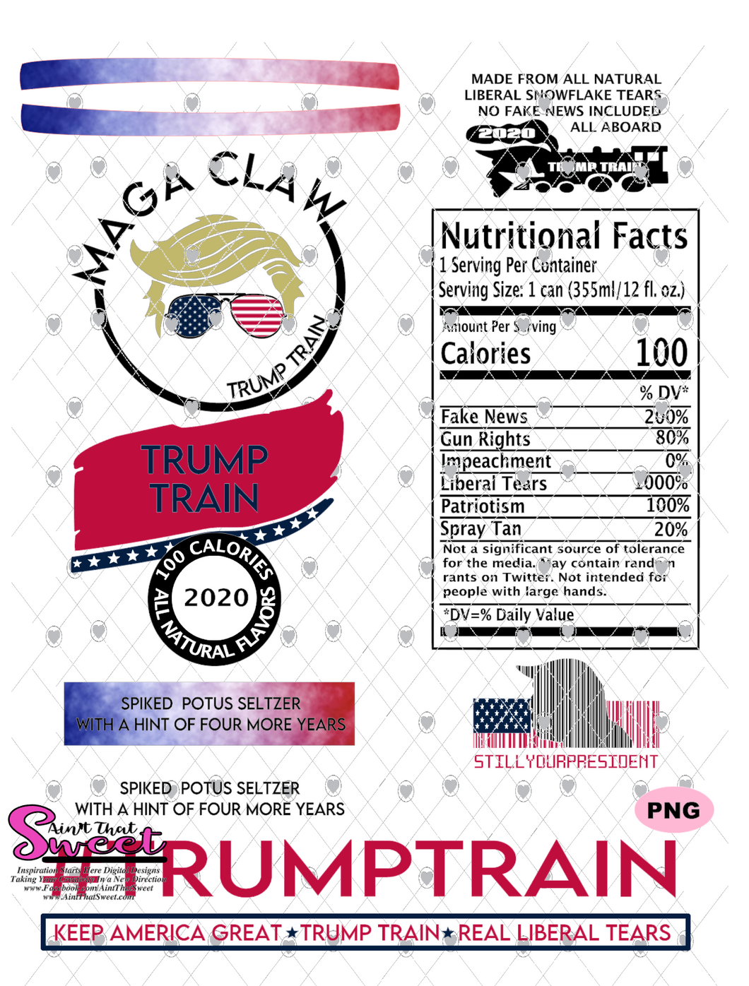 Trump Maga Claw-#TrumpTrain - PNG Only-Sublimation, Printing, Waterslide