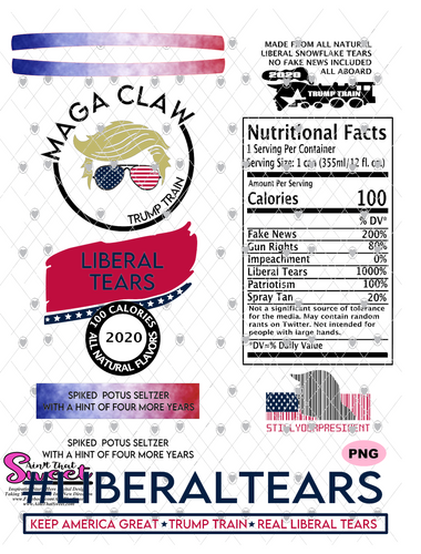 Trump Maga Claw-#LiberalTears - PNG Only-Sublimation, Printing, Waterslide