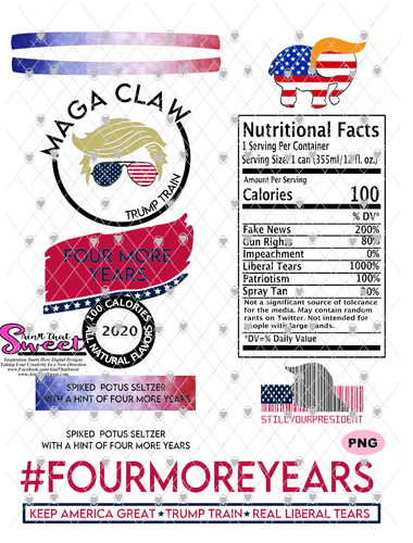Trump Maga Claw-#FourMoreYears - PNG Only-Sublimation, Printing, Waterslide