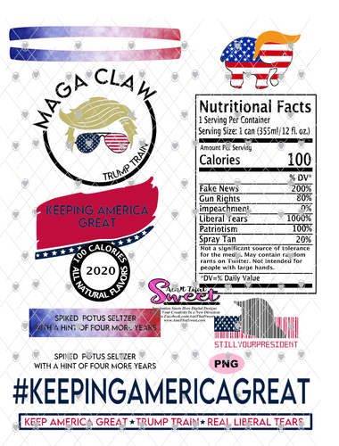 Trump Maga Claw-#KeepingAmericaGreat - PNG Only-Sublimation, Printing, Waterslide