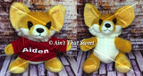 "Personalize This! Plush Fox ""Lovie"" Stuffed Animal with Personalized Hoodie"
