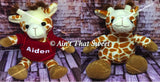 "Personalize This! Plush Giraffe ""Lovie"" Stuffed Animal with Personalized Hoodie"