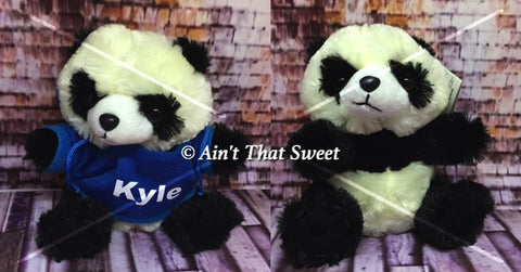 "Personalize This! Plush Panda Bear ""Lovie"" Stuffed Animal With Personalized Hoodie"