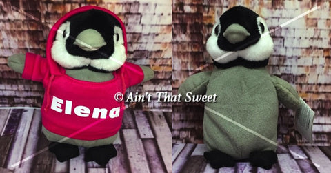 "Personalize This! Plush Penguin ""Lovie"" Stuffed Animal With Personalized Hoodie"