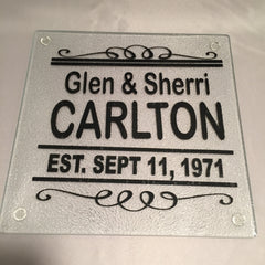Personalize This! Glass Trivet, Cutting Board, Cheese Tray