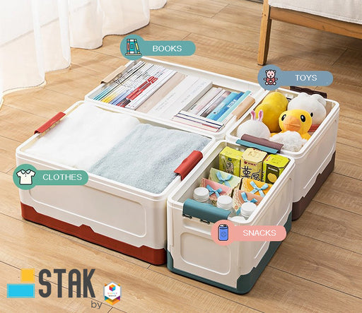 DuraStak Foldable Storage Box Size L 36.8L Capacity
