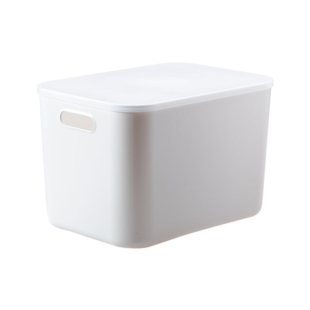 Shimoyama Large Gray Deep Storage Box with Lid (Size D)