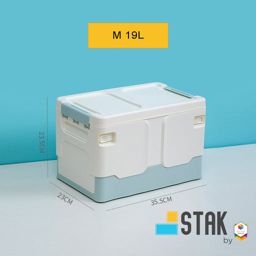 DuraStak Foldable Storage Box Size M  19L Capacity