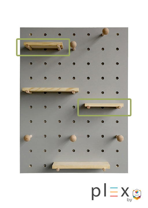 Plex Pegboard Floating Shelf
