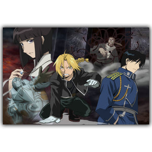 Full Metal Alchemist Brotherhood Elric Alphonse Poster DARK 3 Different Posters with Different Sizes - Animeleaf