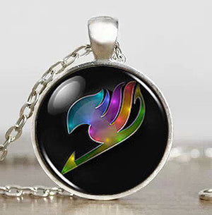 Fairy Tail Rainbow Wing Pendant  4 Choices on Metal Plating - Animeleaf