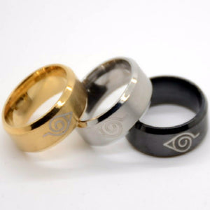 Stainless Steel Hidden Leaf Naruto Ring - Animeleaf