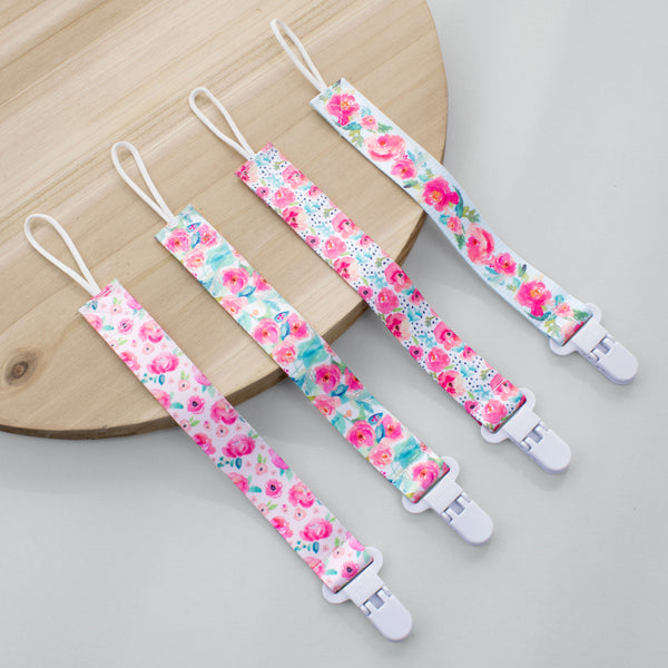Sweet Roses Pacifier Clip