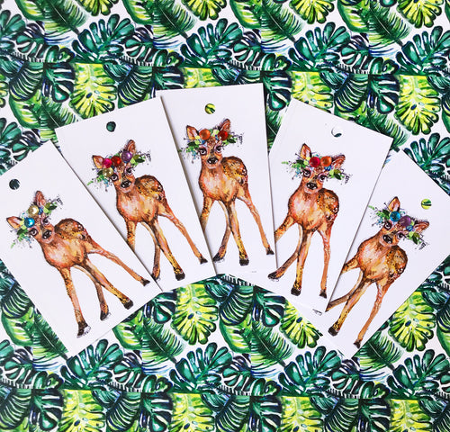 Bambi Christmas Gift Tag 5 pack