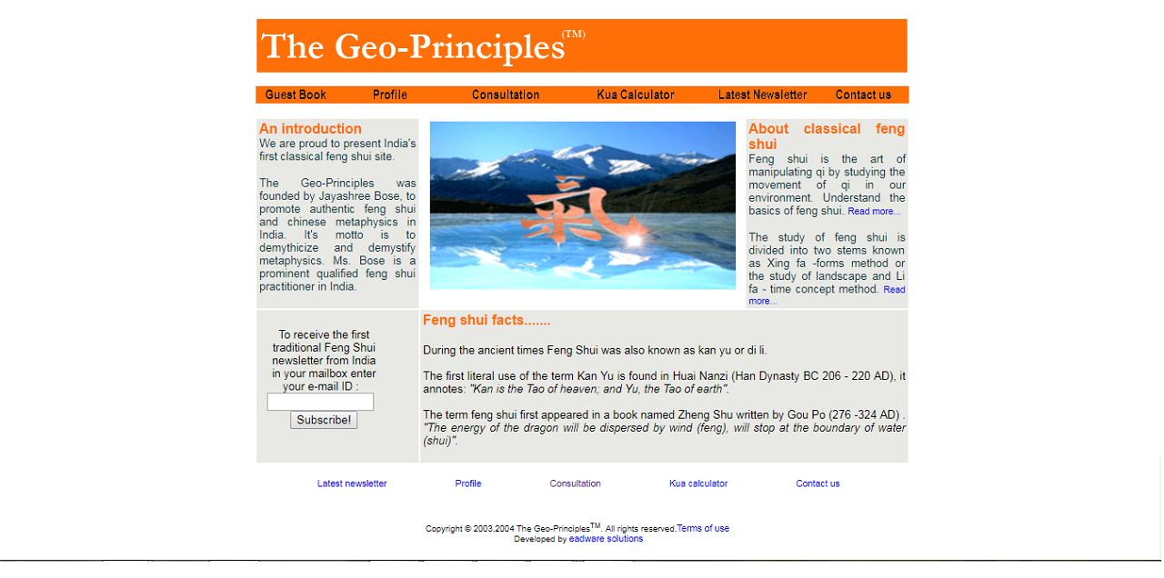 The Geo-Principles Website 2003