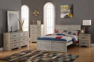 Donco Kids Full Panel Bed Driftwood 001FD-Panel Beds-HipBeds.com