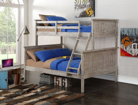 Donco Kids T/F Panel Bunkbed Driftwood 004TFD-Bunk Beds-HipBeds.com